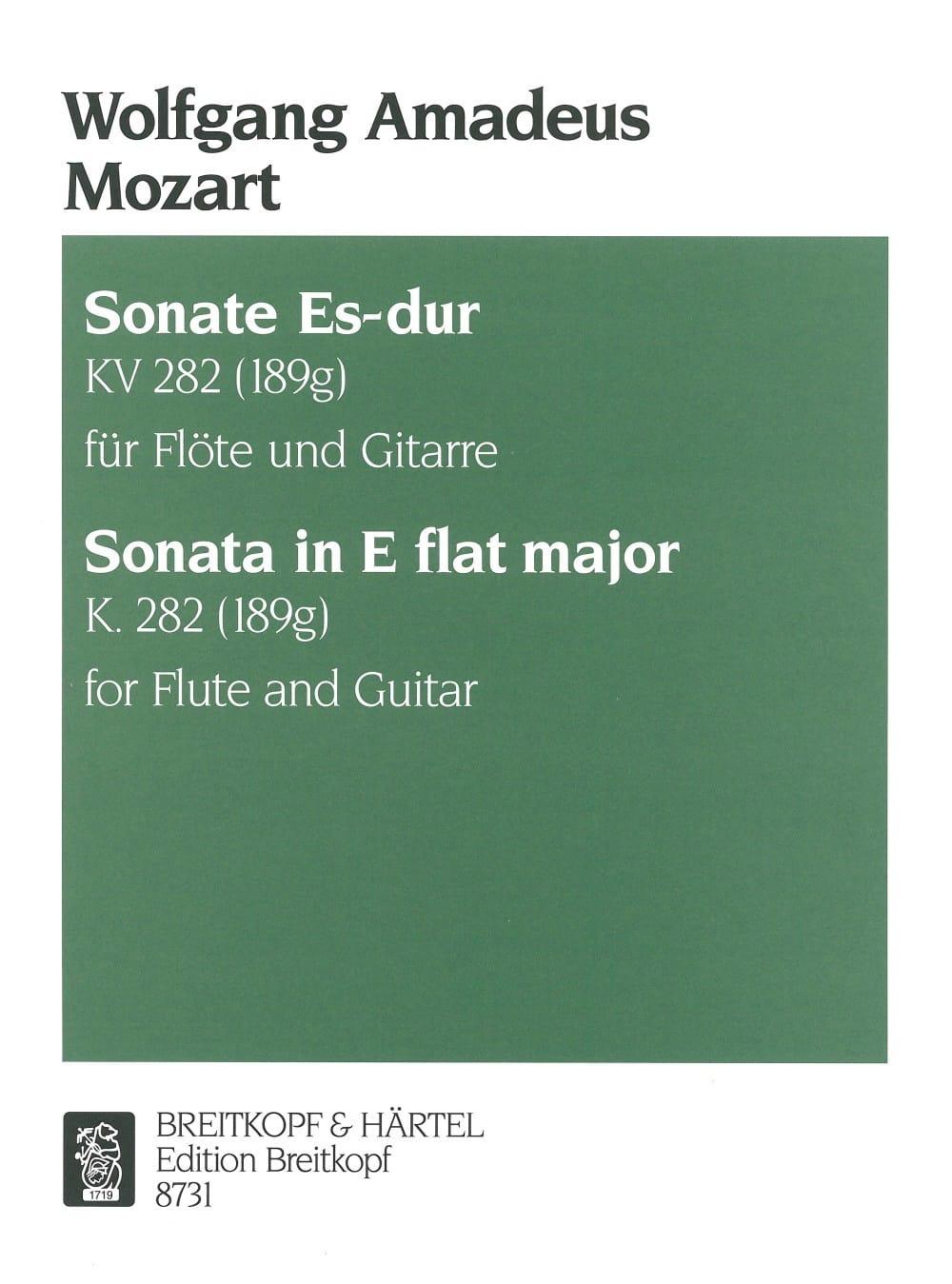 Sonate Es-Dur KV 282 - Flöte Gitarre - MOZART - laflutedepan.com