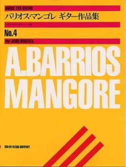 Music for guitar n° 4 Mangore Agustin Barrios Partition laflutedepan