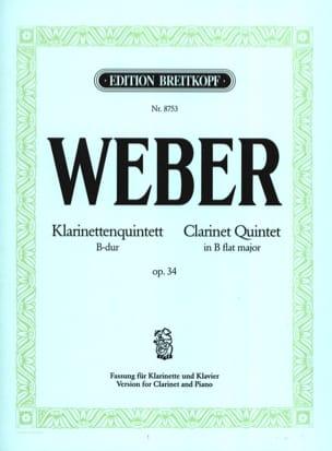 Klarinettenquintett B-Dur op. 34 -Klarinette Klavier laflutedepan