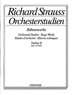 Orchesterstudien Violine 2, Heft 1 Richard Strauss laflutedepan
