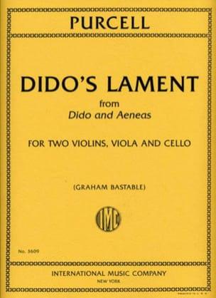 Dido's Lament PURCELL Partition Quatuors - laflutedepan