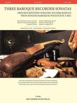 3 Sonates Baroques pour Flûte à Bec - Flûte à Bec et Basse continue laflutedepan