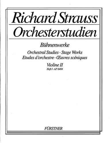 Orchesterstudien Violine 2, Heft 1 - laflutedepan.com