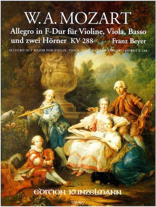 Allegro en Fa Maj. - Kv. 288 - MOZART - Partition - laflutedepan.com