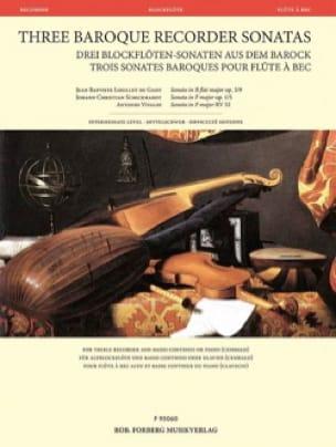 3 Sonates Baroques pour Flûte à Bec - Flûte à Bec et Basse continue - laflutedepan.com