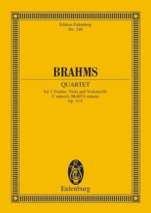 Streichquartett C-Moll, op. 51/1 -Partitur BRAHMS laflutedepan