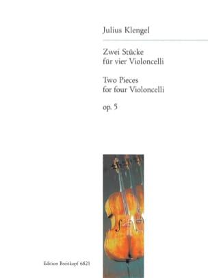 Zwei Stücke op. 5 - 4 Violoncelli Julius Klengel laflutedepan