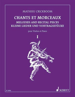 Chants et morceaux - Volume 1 Mathieu Crickboom Partition laflutedepan