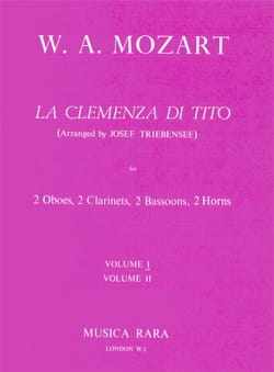 La Clemenza di Tito Volume 1 -Harmoniemusik - Score + parts laflutedepan