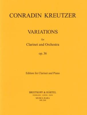 Variationen op. 36 - Klarinette Klavier Conradin Kreutzer laflutedepan