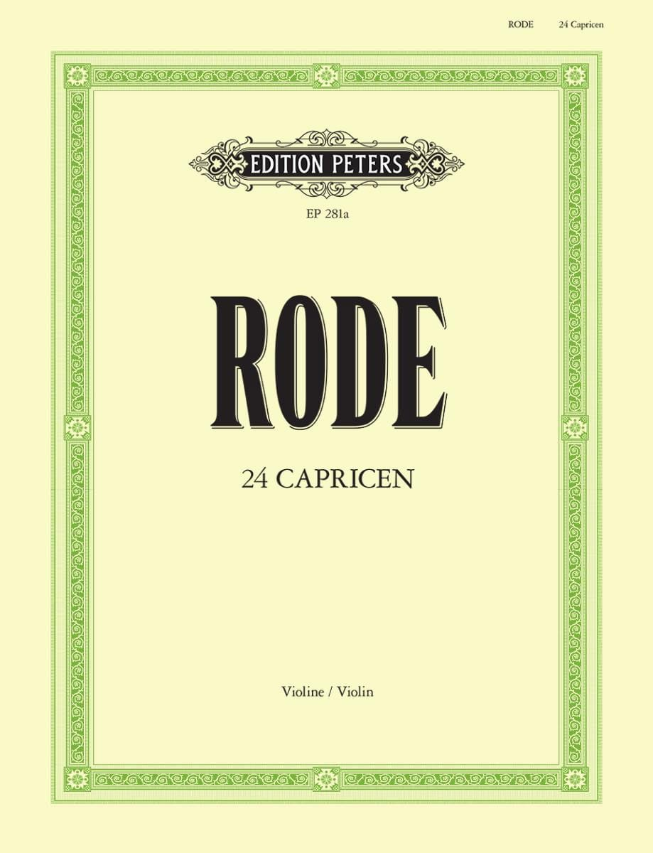 24 Caprices Davisson - Pierre Rode - Partition - laflutedepan.com
