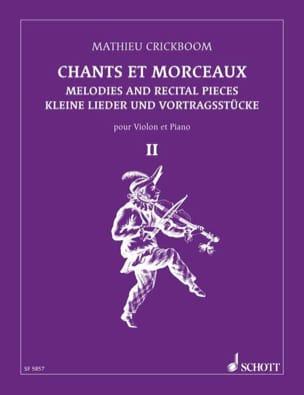 Chants et morceaux - Volume 2 Mathieu Crickboom Partition laflutedepan