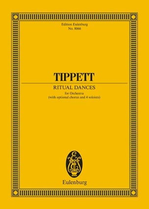 Ritual Dances Michael Tippett Partition Grand format - laflutedepan
