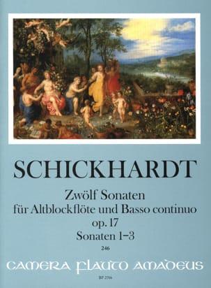 12 Sonates, op. 17 - Vol. 1 - Flûte à Bec Alto et BC laflutedepan