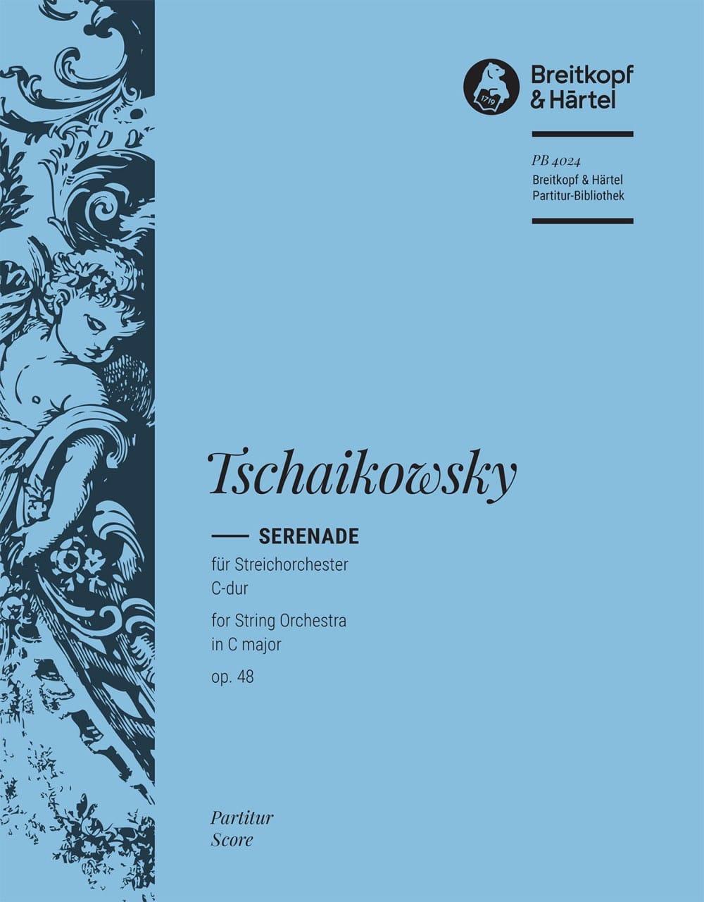 Serenade C-Dur op. 48 - Partitur - TCHAIKOVSKY - laflutedepan.com