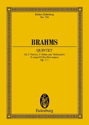 Streich-Quintett G-Dur, Op. 111 BRAHMS Partition laflutedepan