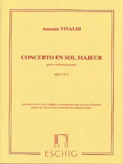 Concerto en Sol Maj. - op. 3 n° 3 - Violon/Piano VIVALDI laflutedepan