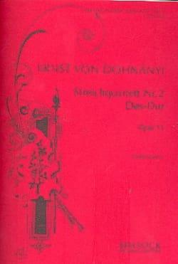 String quartet n° 2 D flat major op. 15 - Score DONHANYI laflutedepan
