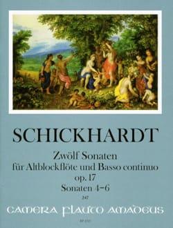 12 Sonates, op. 17 - Vol. 2 - Flûte à Bec alto et BC - laflutedepan.com