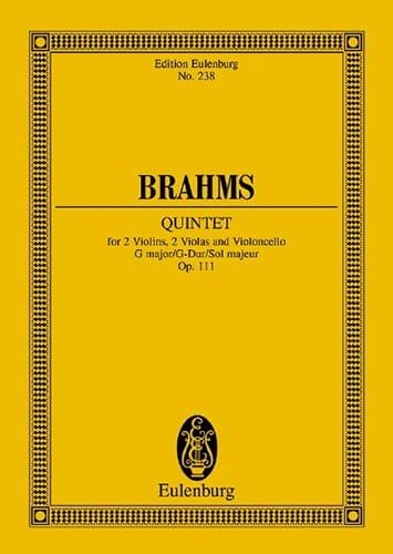 Streich-Quintett G-Dur, Op. 111 - BRAHMS - laflutedepan.com
