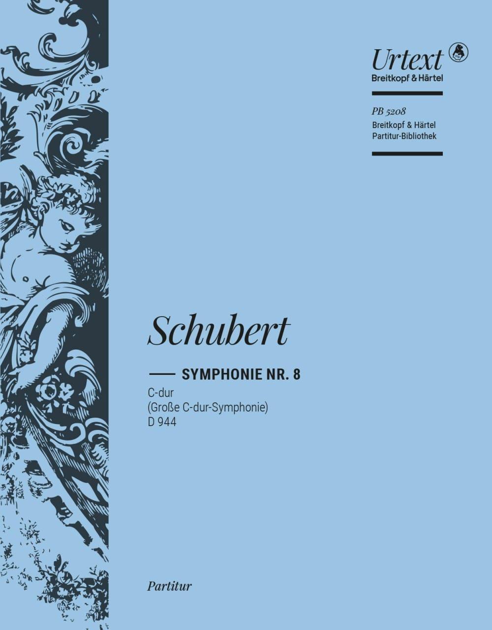 Symphonie, Nr. 8 C-dur D 944 - Partitur - SCHUBERT - laflutedepan.com