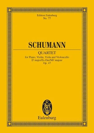 Quartett Es-Dur Op. 47 - Conducteur SCHUMANN Partition laflutedepan