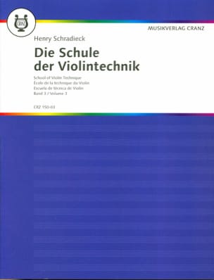Henry Schradieck - Ecole de la technique, Volume 3 - Violon - Partition - di-arezzo.fr