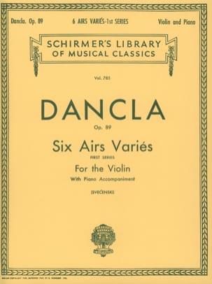 6 Airs variés op. 89 DANCLA Partition Violon - laflutedepan