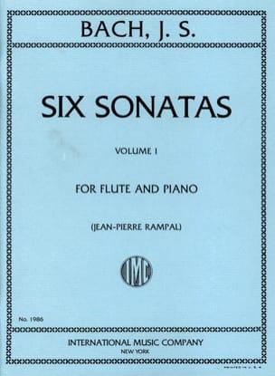 6 Sonatas - Volume 1 - Flûte piano BACH Partition laflutedepan