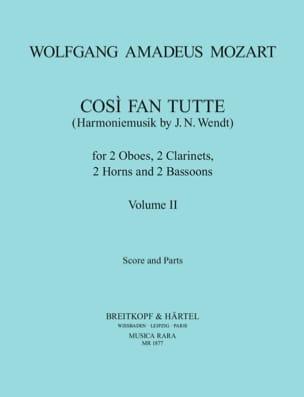 Cosi Fan Tutte Volume 2 -Harmoniemusik - Score + Parts laflutedepan