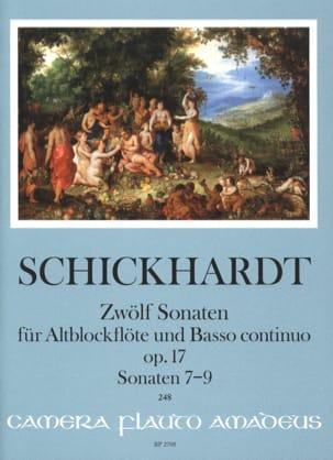 12 Sonates, op. 17 - Vol. 3 - Flûte à Bec Alto et BC laflutedepan