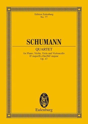 Quartett Es-Dur Op. 47 - Conducteur - SCHUMANN - laflutedepan.com
