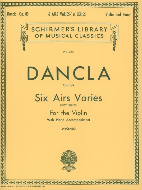 6 Airs variés op. 89 - DANCLA - Partition - Violon - laflutedepan.com