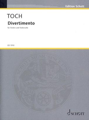 Divertimento Ernst Toch Partition 0 - laflutedepan
