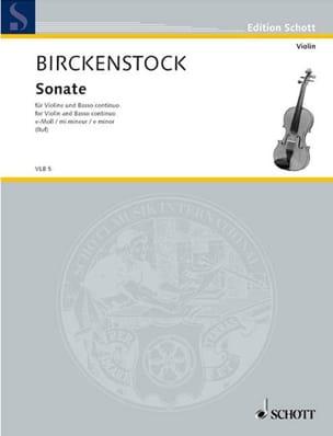 Sonate en mi mineur Johann Adam Birckenstock Partition laflutedepan