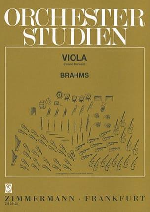 Orchesterstudien - Viola BRAHMS Partition Alto - laflutedepan