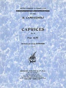 Caprices op. 22 - Alto Bartolomeo Campagnoli Partition laflutedepan