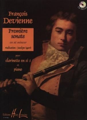 1ère Sonate En Ut Mineur - Clarinette DEVIENNE Partition laflutedepan