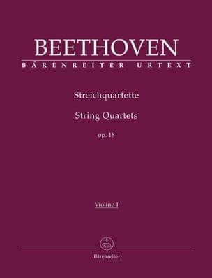 Quatuors à cordes Op. 18, 1-6 -parties instrumentales laflutedepan
