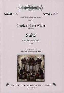 Suite Op. 34 pour Flûte et Orgue WIDOR Partition laflutedepan