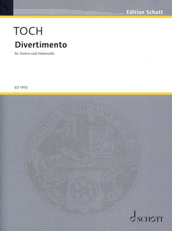 Divertimento - Ernst Toch - Partition - 0 - laflutedepan.com