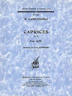Caprices op. 22 - Alto - Bartolomeo Campagnoli - laflutedepan.com