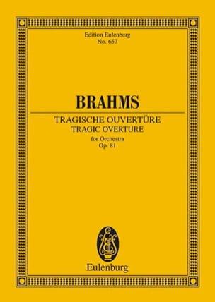 Tragische Ouvertüre, op. 81 BRAHMS Partition laflutedepan