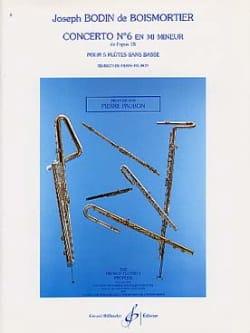 Concerto Op. 15 N° 6 en Mi Mineur BOISMORTIER Partition laflutedepan