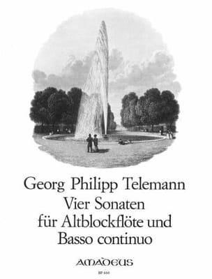 4 Sonaten -Altblockflöte u. Bc TELEMANN Partition laflutedepan
