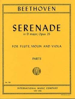 Serenade op. 25 D major -Flute violin viola - Parts laflutedepan