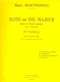 Scherzo : n°4 de la Suite en sol majeur Marc Berthomieu laflutedepan