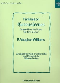 Fantasia on Greensleeves WILLIAMS VAUGHAN Partition laflutedepan