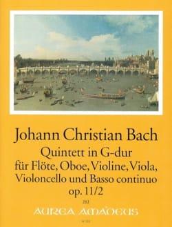 Quintette G-Dur op. 11 n° 2 Johann Christian Bach laflutedepan