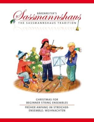 Christmas for Beginner String Ensembles sassmannshaus laflutedepan